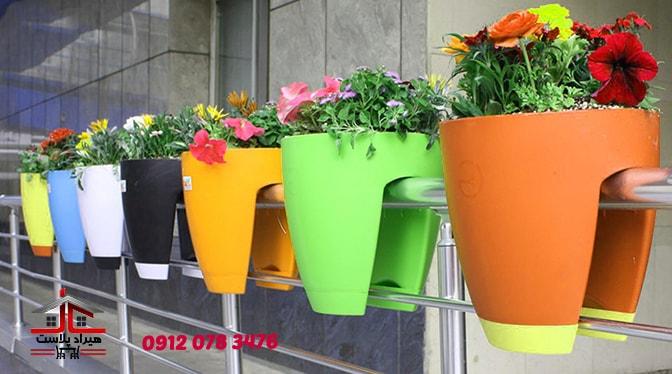 انواع گلدان پلاستیکی