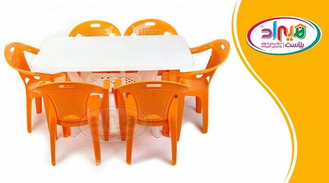 میز و صندلی پلاستیکی 6 نفره